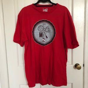 Under Armour Men's Red Baltimore Tee Shirt XL